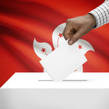 Ballot box with national flag on background series - Hong Kong Royalty Free Stock Images