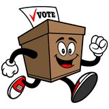 Ballot Box Running Royalty Free Stock Image