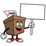 Ballot Box with Sign Royalty Free Stock Photos