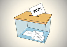 Ballot box with some votes Royalty Free Stock Photos