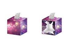Ballot box space texture Stock Photo