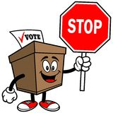 Ballot Box with Stop Sign Stock Photo