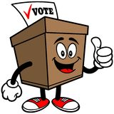 Ballot Box with Thumbs Up Royalty Free Stock Image