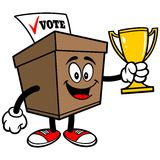 Ballot Box with Trophy Stock Photography