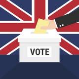 Ballot Box for a UK General Election. vector illustration
