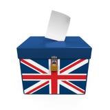 Ballot Box with United Kingdom Flag Stock Images