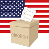 Ballot Box for a US election. A ballot box for voting in a US election Royalty Free Stock Photo