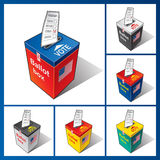 Ballot box USA. Falling ballot in USA the ballot box Royalty Free Stock Photos