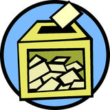 Ballot box vector illustration Stock Images