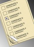 Ballot paper Stock Images