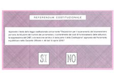 Ballot paper for the Italian Constitution Referendum Stock Photo