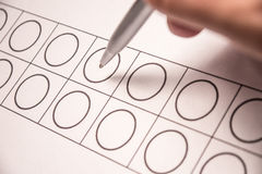 Ballot papers Royalty Free Stock Images