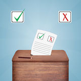 Ballot vote box Royalty Free Stock Photography