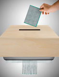 Ballot worthless Royalty Free Stock Photo