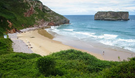 Ballota beach, Asturia y Cantabria, Spain Royalty Free Stock Images