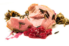 Ballotine of goose steak Royalty Free Stock Photos