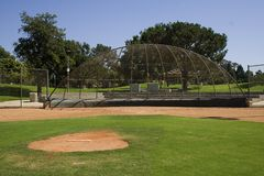 Ballpark. A baseball field at a elementary school Royalty Free Stock Images