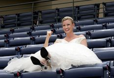 Ballpark Bride Stock Images