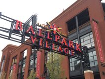 Ballpark Village Royalty Free Stock Photography
