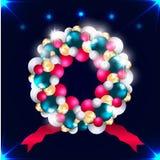 Ballperlen erfassten in einem Kreis für eine Dekoration des neuen Jahres Stockbilder