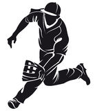 Ballplayer, silhouette Stock Images