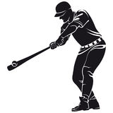 Ballplayer, silhouette Royalty Free Stock Photography