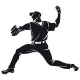 Ballplayer, silhouette Royalty Free Stock Photo