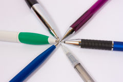 ballpoint χρωματισμένες πέννες Στοκ εικόνα με δικαίωμα ελεύθερης χρήσης