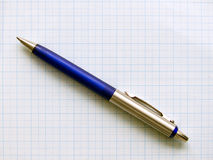 Ballpoint on graph paper Stock Image