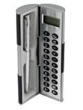ballpoint kalkulatora prezenta biurowego pióra ustalony mały Fotografia Royalty Free