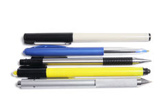 Ballpoint and Marker Pens Royalty Free Stock Photos
