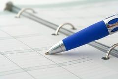 ballpoint notatnika pióro Fotografia Stock