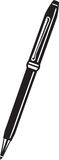 Ballpoint Pen. Line Art Illustration of a Ballpoint Pen vector illustration
