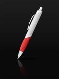 Ballpoint pen on black Royalty Free Stock Photography