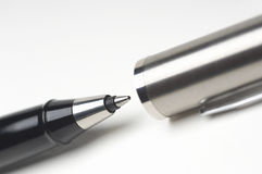 Ballpoint Pen With Cap Royalty Free Stock Images