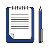 Ballpoint Pen & Clipboard Royalty Free Stock Images