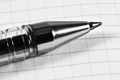 Ballpoint pen close up Royalty Free Stock Photography