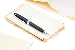 Ballpoint pen and documents. Stock Images