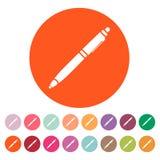 The ballpoint pen icon. Pen symbol. Flat. Vector Royalty Free Stock Photography
