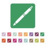 The ballpoint pen icon. Pen symbol. Flat. Vector Royalty Free Stock Photos
