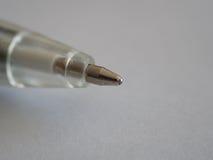 Ballpoint pen. Macro ballpoint pen, on light background Royalty Free Stock Image