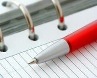Ballpoint Pen on Notebook. Still-life of Ballpoint Pen on Notebook Royalty Free Stock Photos