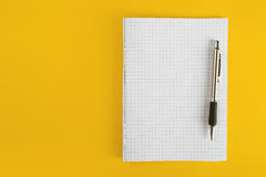 Ballpoint Pen and Notebook Stock Images