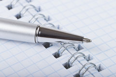Ballpoint pen and notebook Royalty Free Stock Photo