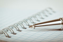 Ballpoint pen and notebook Royalty Free Stock Photography