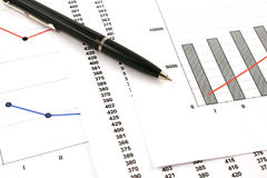 Free Ballpoint Pen On Earning Graphs Stock Photos - 6478833