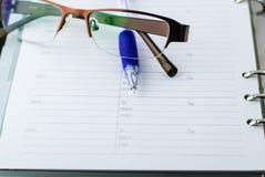 Ballpoint pen on paper Stock Image