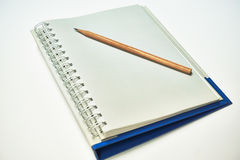 Ballpoint pen put on a notebook. Royalty Free Stock Photography