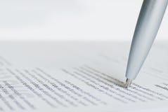 Ballpoint pen tip Stock Photography