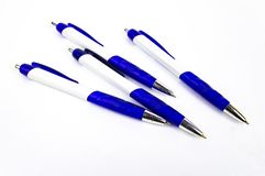Ballpoint pen for writing on a white background royalty free stock images